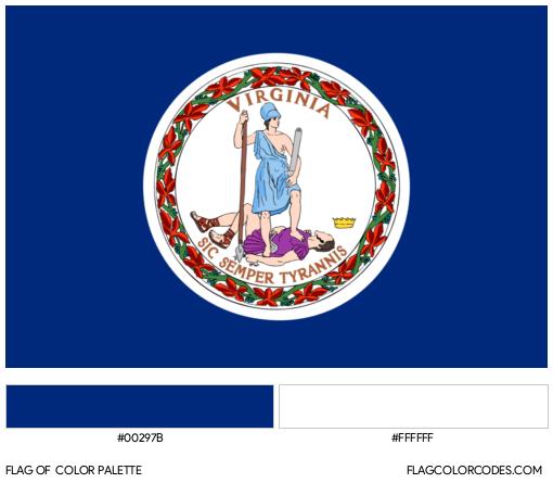 Virginia Flag Color Palette