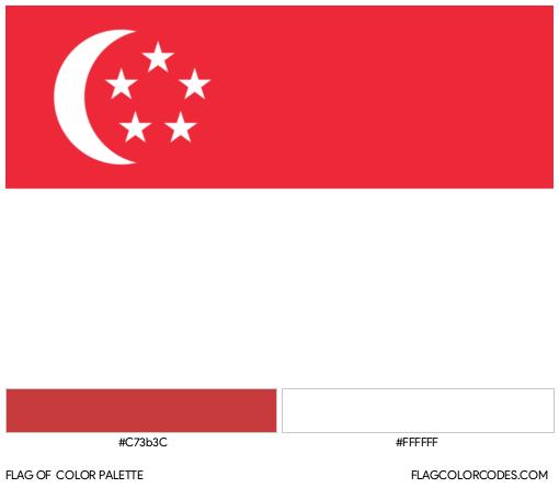 Singapore Flag Color Palette