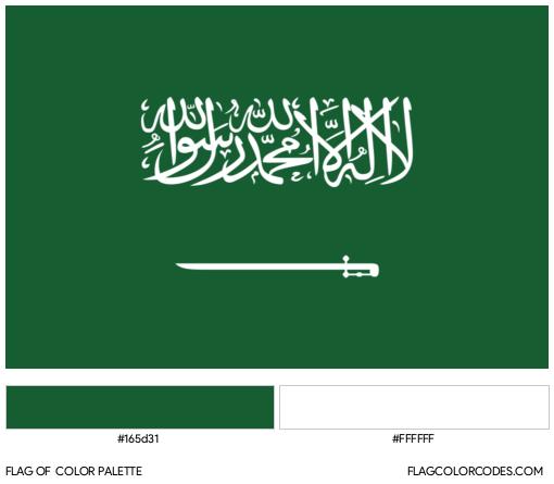 Saudi Arabia Flag Color Palette