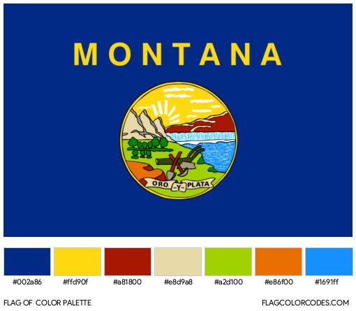 Montana Flag Color Palette