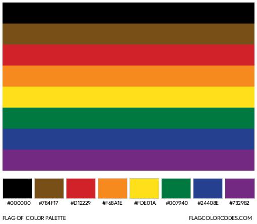 Philadelphia Pride Flag Color Palette