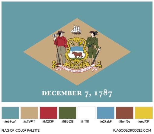Delaware Flag Color Palette