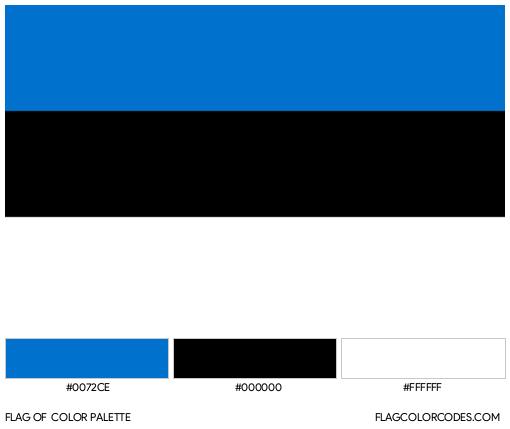 Estonia Flag Color Palette