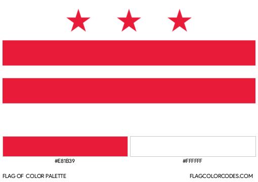 Washington D. C. Flag Color Palette
