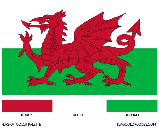 Wales Flag Color Palette