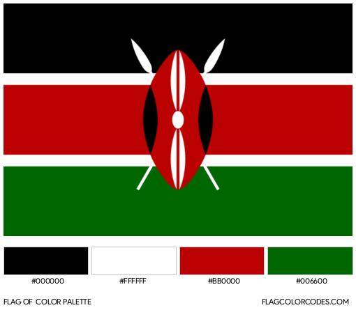 Kenya Flag Color Palette