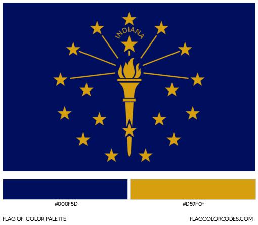 Indiana Flag Color Palette