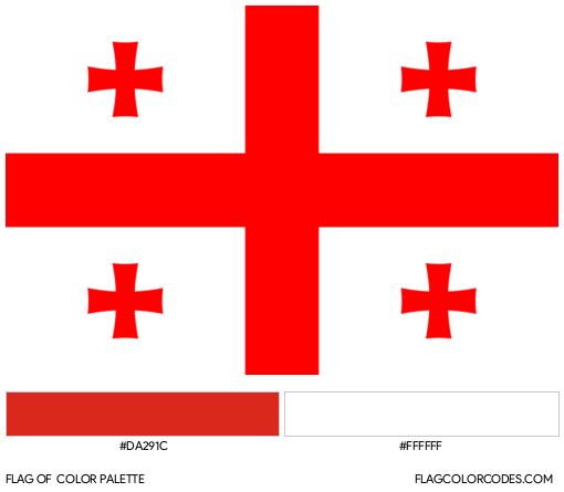 Georgia Flag Color Palette