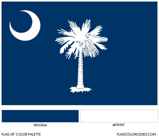 South Carolina Flag Color Palette