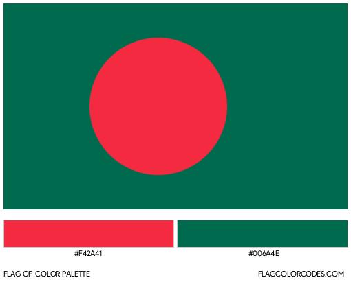 Bangladesh Flag Color Palette