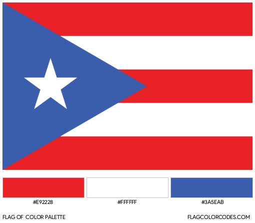Puerto Rico Flag Color Palette