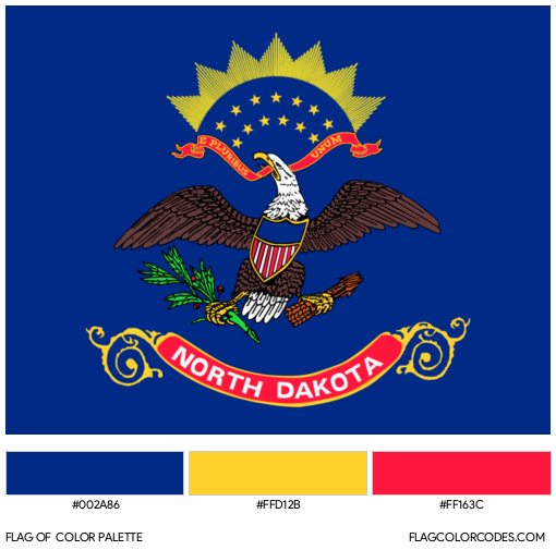North Dakota Flag Color Palette