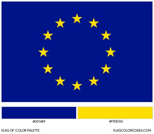 Europe Flag Color Palette