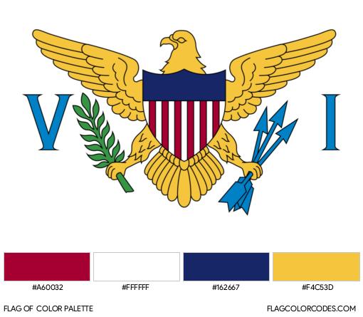 U.S. Virgin Islands Flag Color Palette