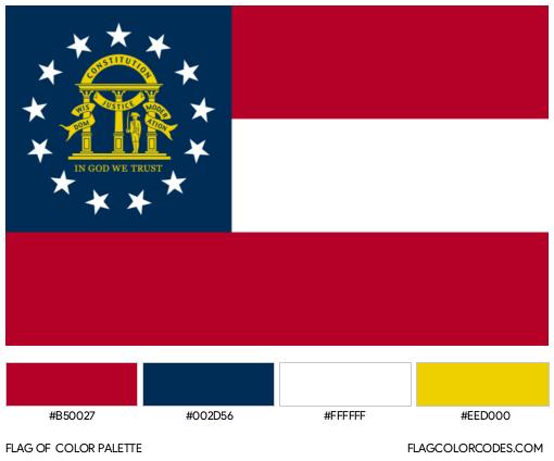 Georgia (State) Flag Color Palette