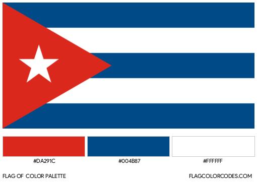 Cuba Flag Color Palette