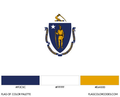 Massachusetts Flag Color Palette