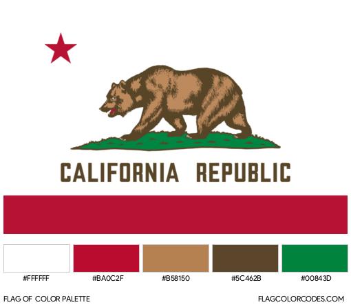 California Flag Color Palette