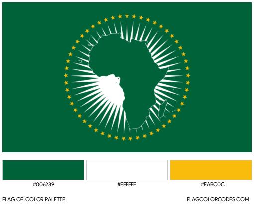 African Union Flag Color Palette
