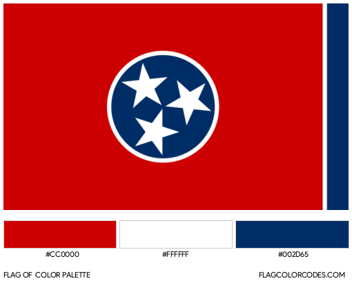 Tennessee Flag Color Palette