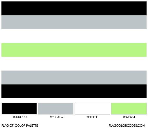 Agender Flag Color Palette