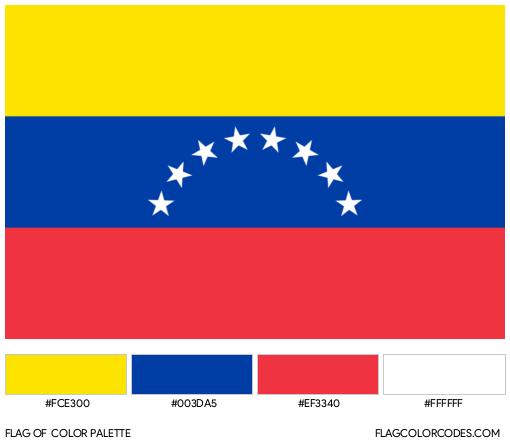 Venezuela Flag Color Palette