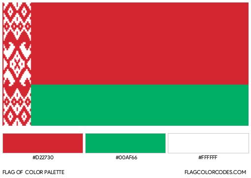 Belarus Flag Color Palette