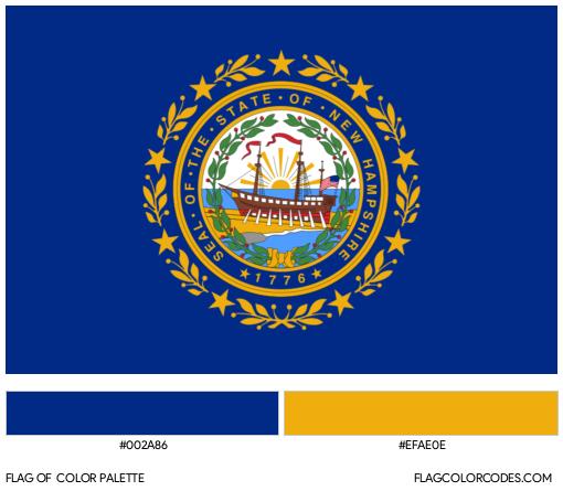 New Hampshire Flag Color Palette