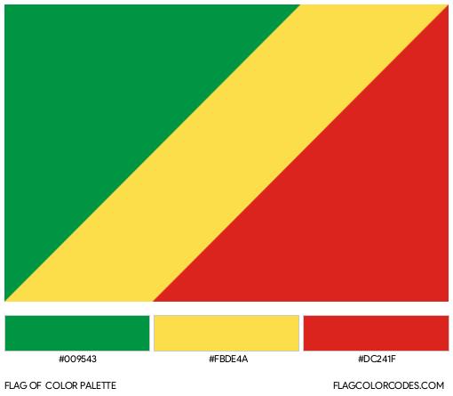 Republic of the Congo Flag Color Palette