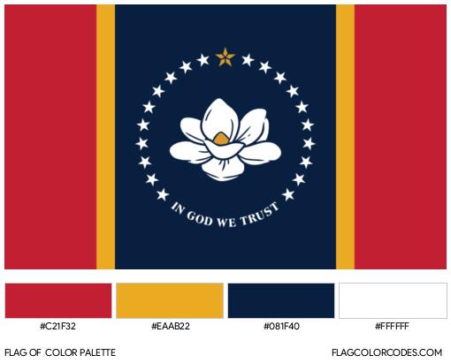 Mississippi Flag Color Palette