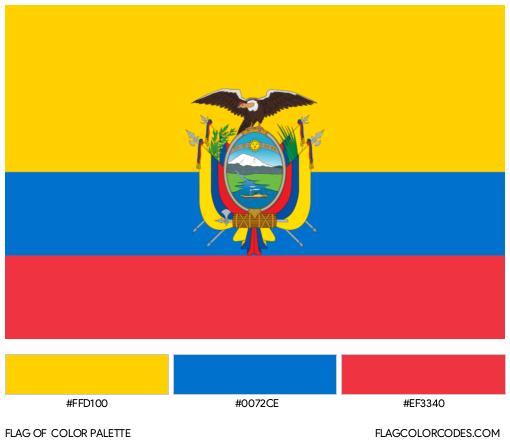 Ecuador Flag Color Palette