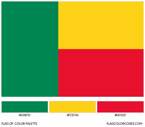 Benin Flag Color Palette