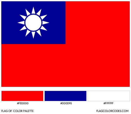 Taiwan Flag Color Palette