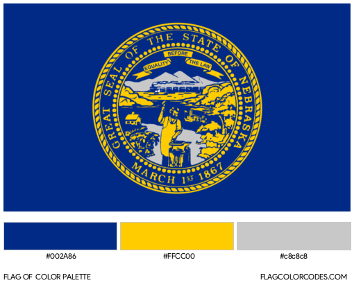 Nebraska Flag Color Palette