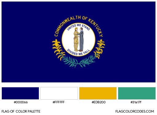 Kentucky Flag Color Palette