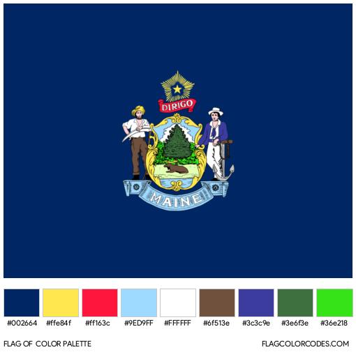 Maine Flag Color Palette