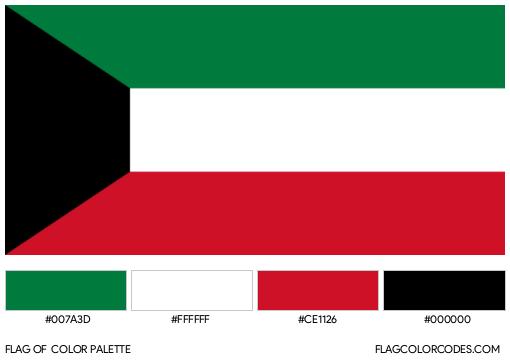 Kuwait Flag Color Palette