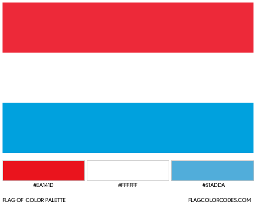 Luxembourg Flag Color Palette