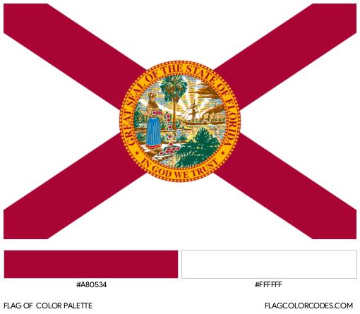 Florida Flag Color Palette
