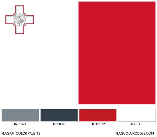 Malta Flag Color Palette