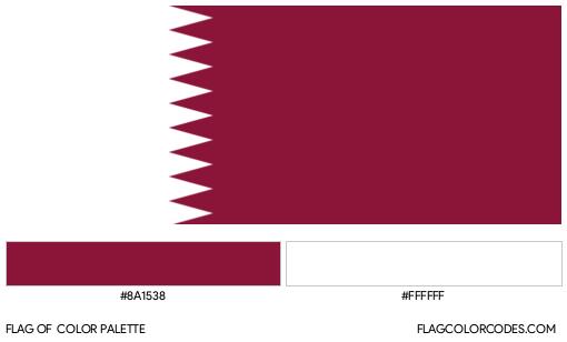 Qatar Flag Color Palette