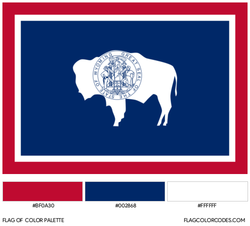 Wyoming Flag Color Palette