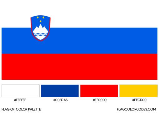 Slovenia Flag Color Palette