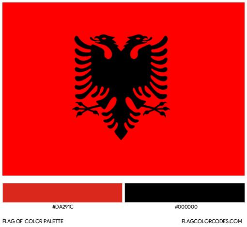 Albania Flag Color Palette
