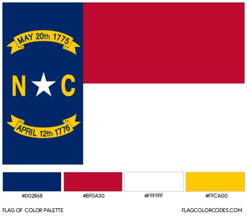 North Carolina Flag Color Palette