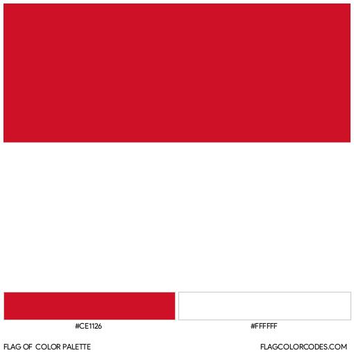 Monaco Flag Color Palette