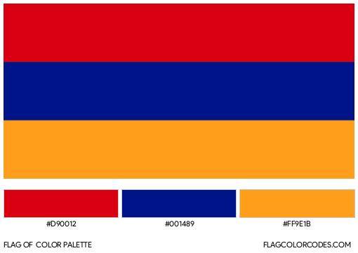 Armenia Flag Color Palette