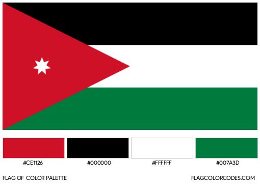 Jordan Flag Color Palette