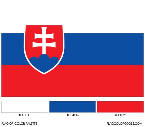 Slovakia Flag Color Palette