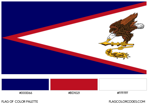 American Samoa Flag Color Palette